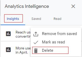 delete insight