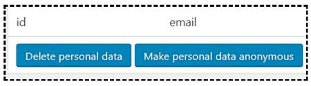 delete personal data