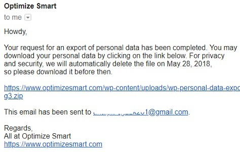 download personal data