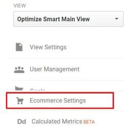 enhanced ecommerce tracking shopify ecommerce settings
