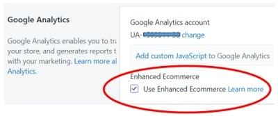 enhanced ecommerce tracking shopify use enhanced ecommerce