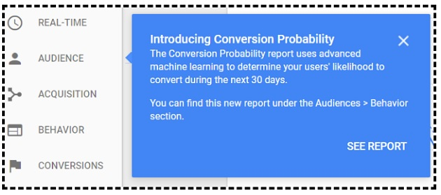 Conversion Probability in Google Analytics