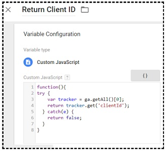 javascript variable GTM