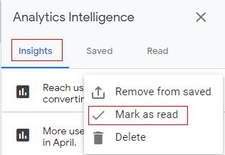 mark as read