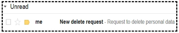 new delete request