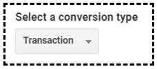 select conversion type