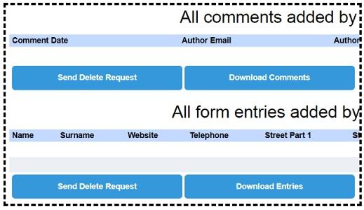 send delete request
