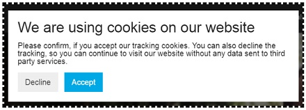 we are using cookies