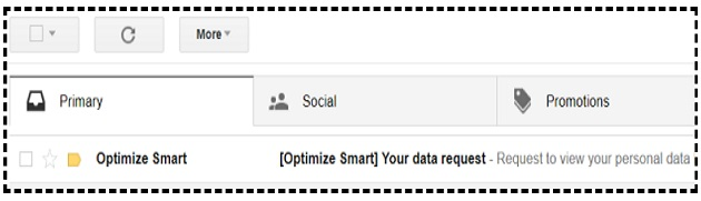 your data request