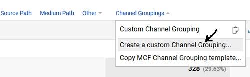 create custom channel grouping