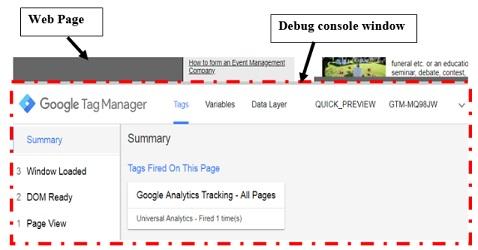 debug console window