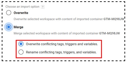 merge import option