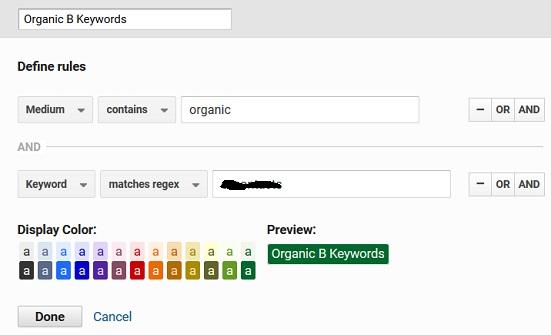 organic branded keywords 1