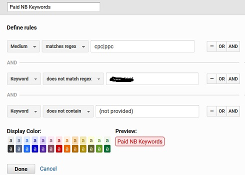 paid non branded keywords