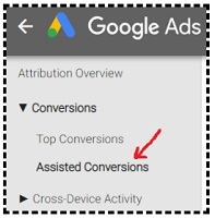 assisted conversions in google ads