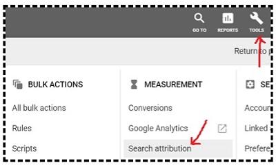 search attribution google ads