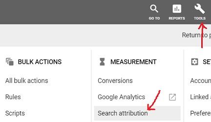 search attribution