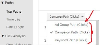 clicks conversion paths