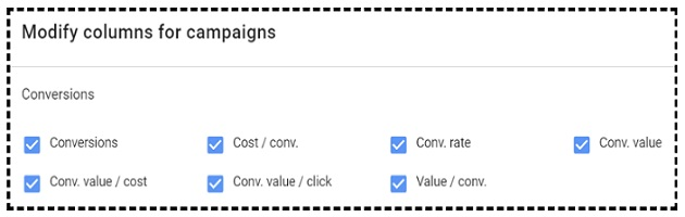 conversions metrics