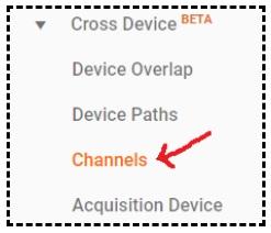cross device channels report