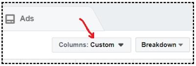 facebook sales conversion data columns custom