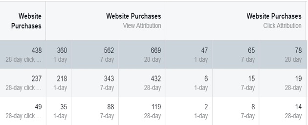 facebook sales conversion data website purchases