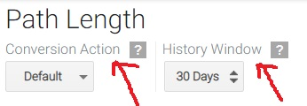 path length conversion action history window
