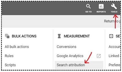 search attribution reports google ads