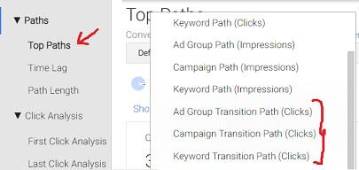 transition paths clicks