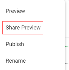 Share Preview mode