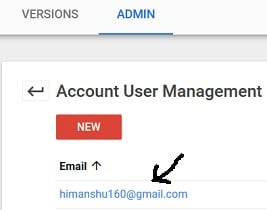 access to gtm account change account permission