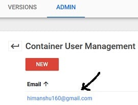 access to gtm account change container permission