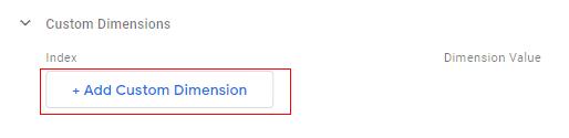 send client id gtm add dimension