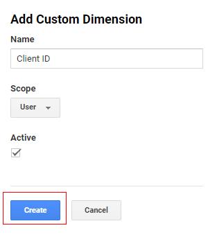 send client id gtm create