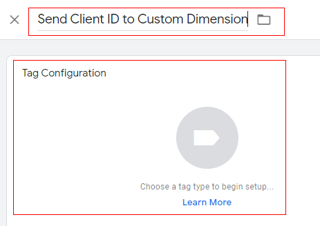 send client id gtm new tag configuration