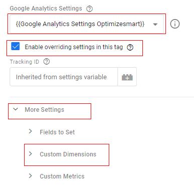 send client id gtm settings