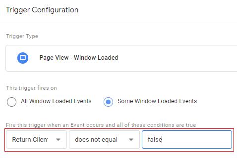 send client id gtm trigger configuration