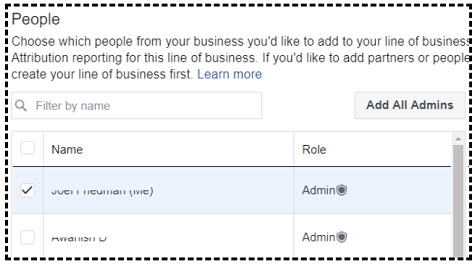 add people to line of business