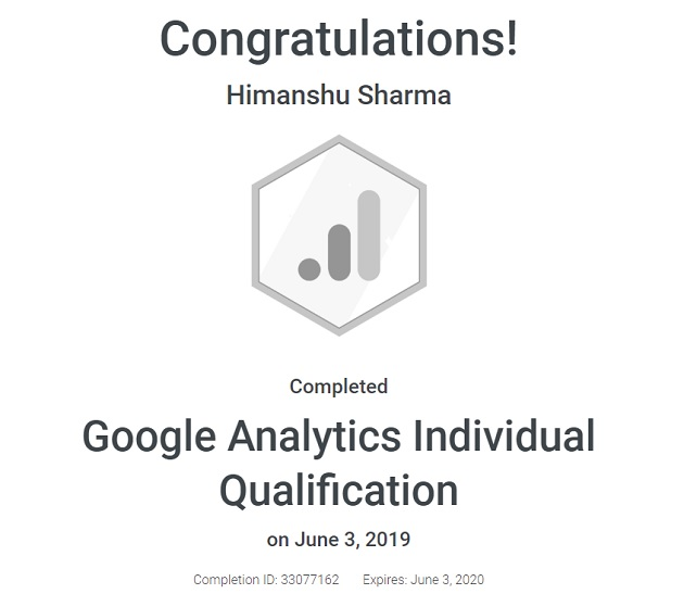 Google Analytics Certification (GAIQ) 2019 - Study guide with Questions