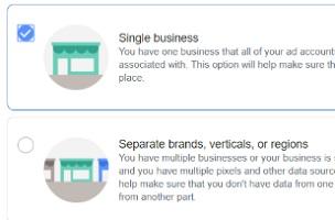 select single business