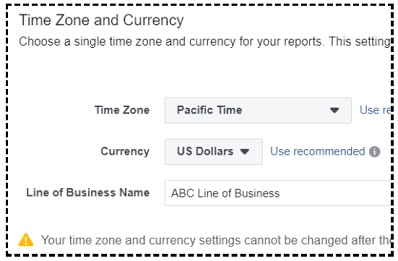 select timezone and currency