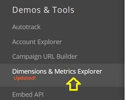 dimensions and metrics explorer 1