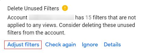 Adjust Filters