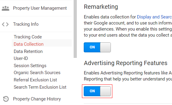 Advertising Reporting Feature