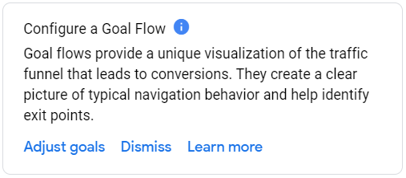 Configure a goal flow