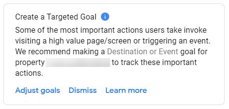 Create a Targeted Goal