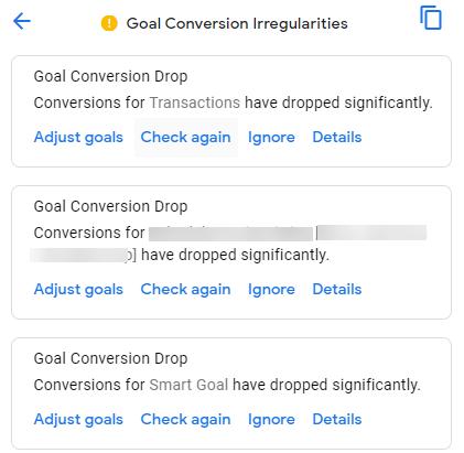 Goal Conversion irregularities
