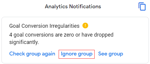 Ignore Group