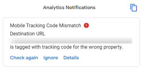 Mobile Tracking Code Mismatch