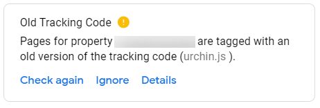 Old Tracking Code
